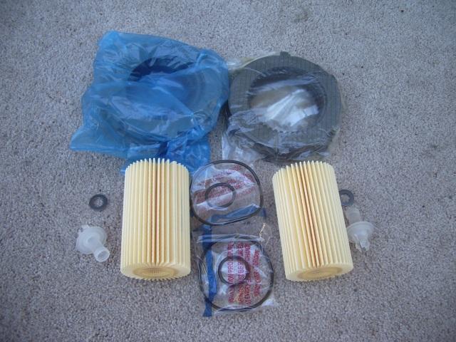 Посылка с дисками сцепления и фильтрами на тундру